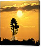 Old Windmill At Sunset Canvas Print