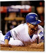 Omar Infante and Alcides Escobar Canvas Print