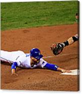Omar Infante and Buster Posey Canvas Print