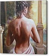 On The Doorway Canvas Print