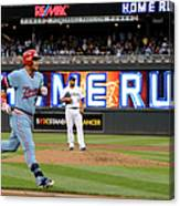 Oswaldo Arcia and Wily Peralta Canvas Print