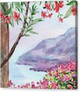 Overlooking Seashore Harbor  Canvas Print