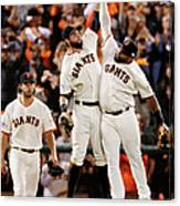 Pablo Sandoval and Brandon Belt Canvas Print