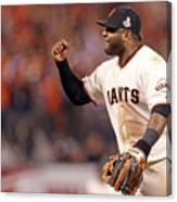 Pablo Sandoval and Gerald Laird Canvas Print