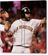 Pablo Sandoval, Yadier Molina, and Hunter Pence Canvas Print