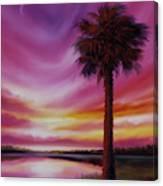 Palmetto Moon Canvas Print