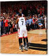 Pascal Siakam and Kyle Lowry Canvas Print