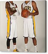 Paul George and Danny Granger Canvas Print