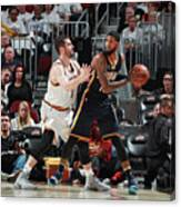 Paul George and Kevin Love Canvas Print