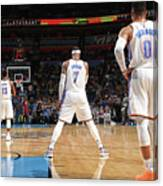 Paul George, Carmelo Anthony, and Russell Westbrook Canvas Print