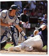 Paul Goldschmidt and Austin Barnes Canvas Print