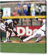Paul Goldschmidt And Brandon Crawford Canvas Print