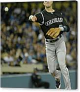 Paul Maholm and Troy Tulowitzki Canvas Print