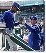Pedro Ciriaco And Ned Yost Canvas Print
