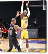 Portland Trail Blazers v LA Lakers Canvas Print