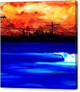 Power Trip - surf art Canvas Print
