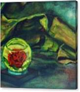 Preserved Rose . . Draped Canvas Canvas Print