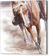 Reiner's Grace- Western Reining Horse Canvas Print