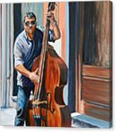 Riviera Rhythms- Cello Street Musician Canvas Print