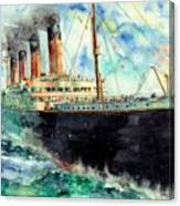 RMS Titanic White Star Line Ship Canvas Print