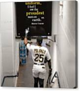 Roberto Clemente and Gregory Polanco Canvas Print