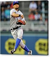 Rougned Odor and Aaron Hicks Canvas Print