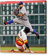 Rougned Odor and Jason Castro Canvas Print