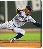 Rusney Castillo and Francisco Lindor Canvas Print