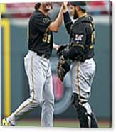 Russell Martin and Jason Grilli Canvas Print