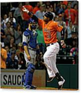 Russell Martin and Luis Valbuena Canvas Print