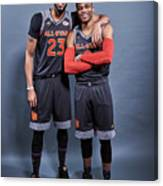 Russell Westbrook and Anthony Davis Canvas Print