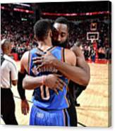 Russell Westbrook and James Harden Canvas Print