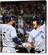 Ryan Braun and Jonathan Villar Canvas Print