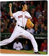 Ryan Hanigan And Koji Uehara Canvas Print