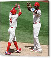 Ryan Howard and Andres Blanco Canvas Print