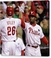 Ryan Howard, Jimmy Rollins, and Chase Utley Canvas Print