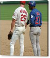 Sammy Sosa and Mark Mcgwire Canvas Print