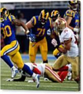 San Francisco 49ers v St Louis Rams Canvas Print