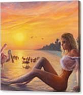 Sanibel Mermaid Canvas Print
