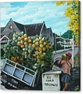 Savannah Coconut Vendor Canvas Print