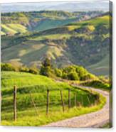 Scenic View Of Country Road Against Sky Canvas Print