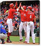Scooter Gennett and Joey Votto Canvas Print