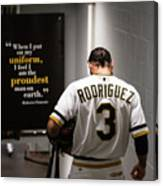 Sean Rodriguez and Roberto Clemente Canvas Print