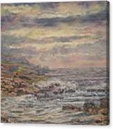 Seascape With Clouds. Canvas Print
