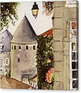 Semur en Auxois Canvas Print