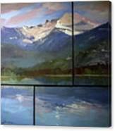 Shadows of Winter  Chimney Rock Canvas Print
