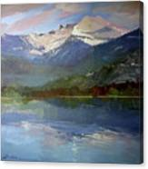 Shadows of Winter, Chimney Rock, Priest Lake Canvas Print