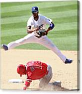 Shane Victorino and Jimmy Rollins Canvas Print