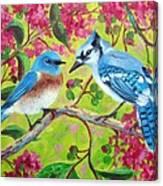 Sharing A Branch Canvas Print