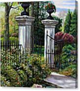 Shaws Garden Gate Canvas Print